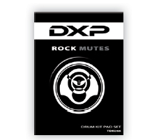 DXP Set of Rubber Drum Mutes